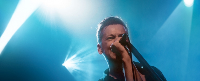 Statemachine lead singer Mårten Kellerman during the Something Better performance.